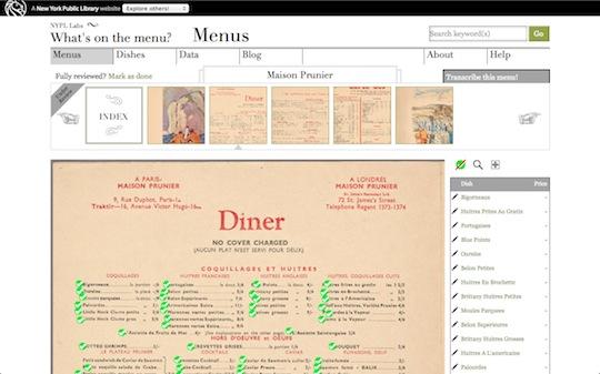 Service menus